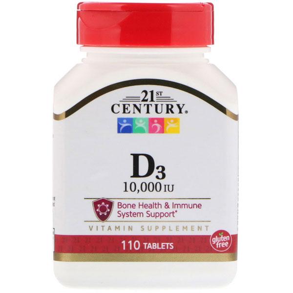 21st Century - D3 10000 IU (110 таблеток) | Купить на Fitnesspit.ru